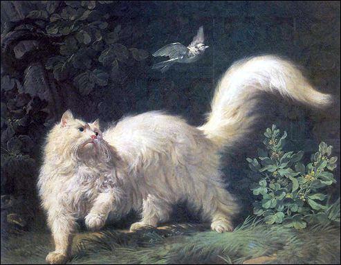 Avec quels oiseaux voisine le chat dans le titre d'un roman d'Agatha Christie ?