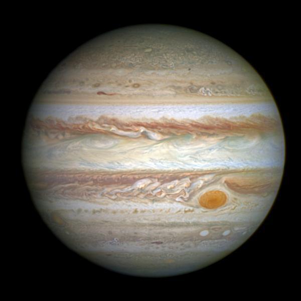 """""""Jupiter"""", la plus grosse planète du Système solaire, est une planète gazeuse."""