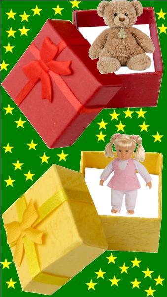Quelle est la couleur du cadeau pour le petit Michel Polnareff ?