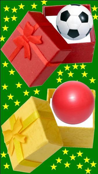 Quelle est la couleur du cadeau pour le petit Serge Lama ?