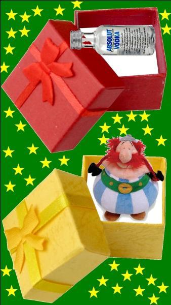 Quelle est la couleur du cadeau pour le petit Gérard Depardieu ?
