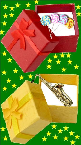 Quelle est la couleur du cadeau pour la petite France Gall ?