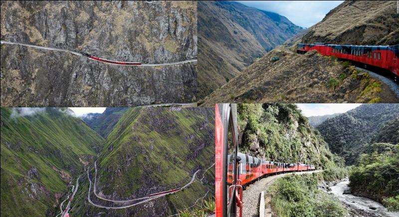 Cette ligne de train part de la « perle du Pacifique » pour rejoindre la capitale de ce pays qui culmine à 2 850 m d'altitude. Le passage de certains lieux, même en train, peut être difficile ! Quel est ce train ?