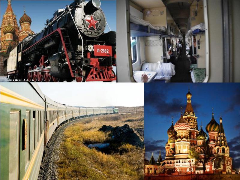 On est partie pour une balade de 7 jours pour 9 200 km de voyage. Nous relirons la capitale de ce gigantesque pays à la ville « seigneur de l'est ». Egalement, nous traverserons 7 fuseaux horaires ! Quel est ce train ?