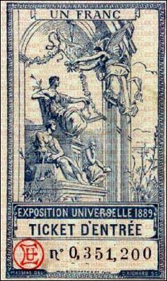 Quel grand monument voit le jour lors de l'Exposition universelle de 1889 ?