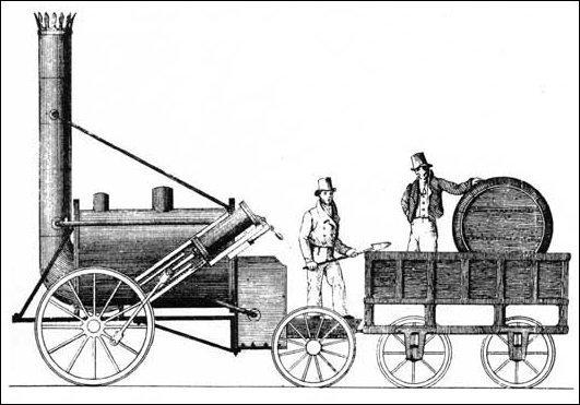 Quel pays est en avance sur les autres lors de la révolution industrielle avec la locomotive à vapeur ?