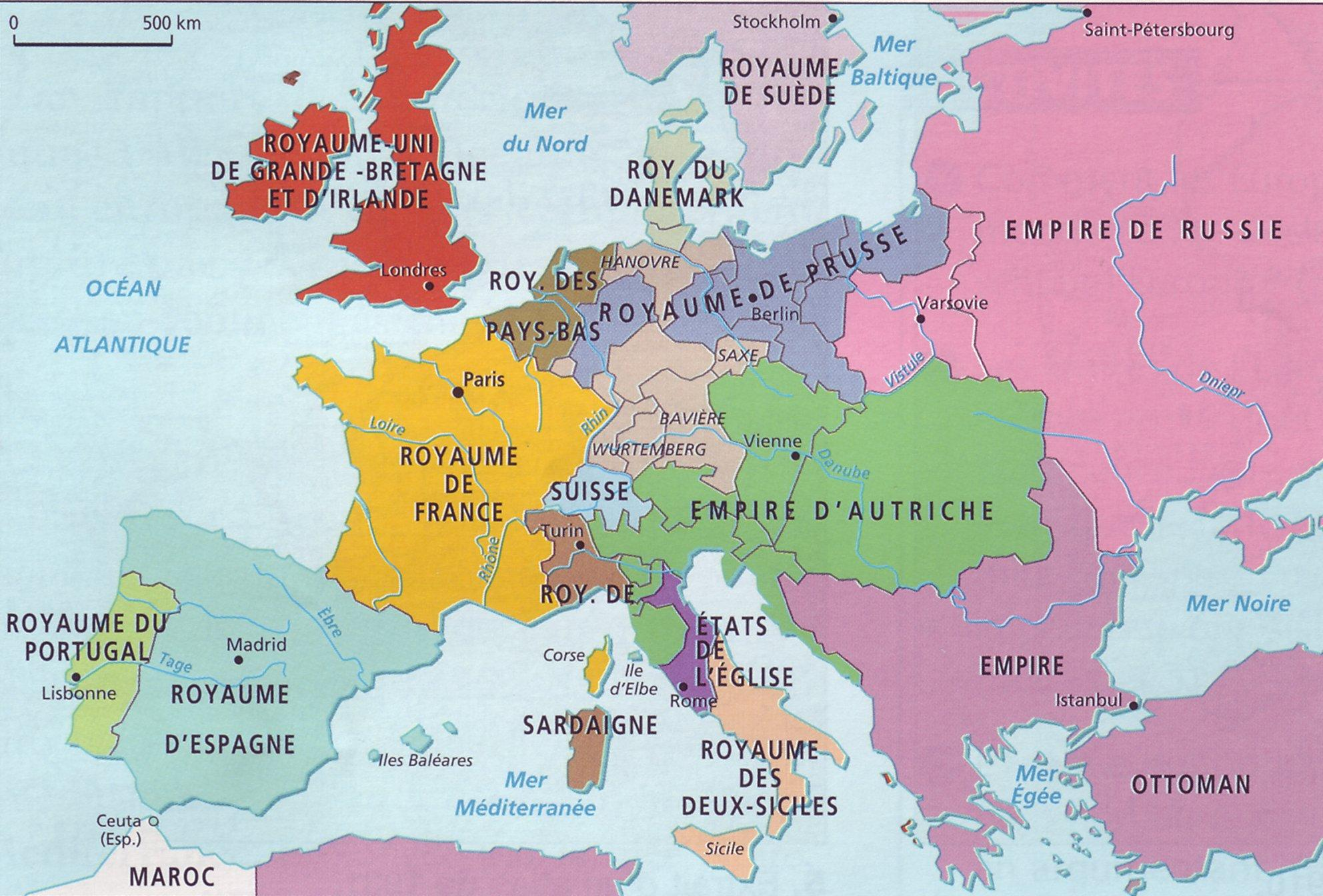 carte europe xixe siecle