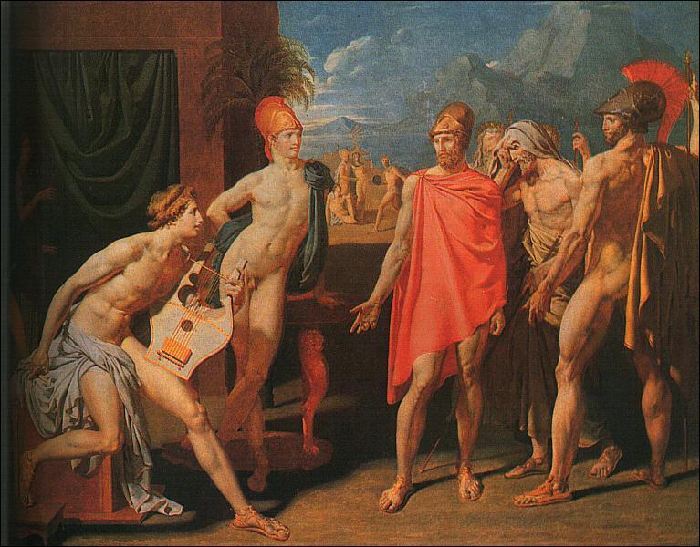 """Qui sont les personnages de la dispute du premier """"chant"""" de l'Iliade de Homère ?"""