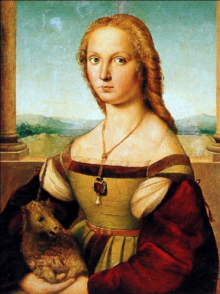 Admirez la toile et donnez-moi le titre de cette oeuvre du peintre Raphaël :