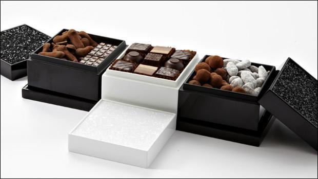 Voici des chocolats créés par le grand confiseur Lenôtre :