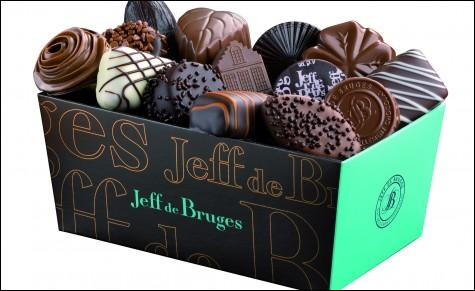 """Ils sont savoureux les """"Jeff de Bruges"""" ! Ce sont des chocolats de marque :"""