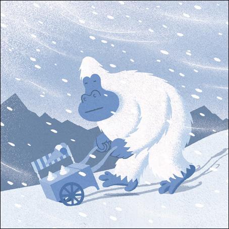 """Le """"yéti"""" est aussi appelé l'abominable homme des neiges."""