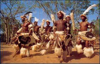 """Les """"Zoulous"""" sont un peuple d'Afrique du Sud."""