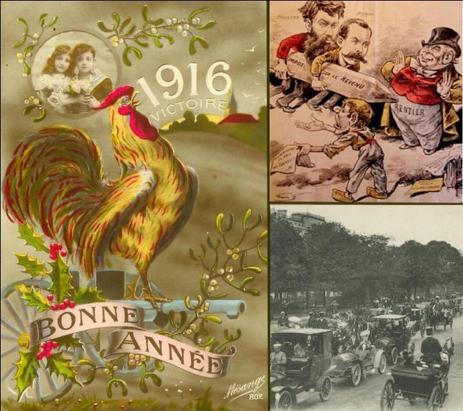 Quelle loi votée le 3 juillet 1914 et promulguée le 15 juillet 1914 est entrée en application le 1er janvier 1916?