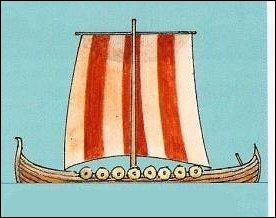 C'est l'un des plus anciens types de voiles, de l'Antiquité au Moyen Âge. Montée ici sur un drakkar, comment la nomme-t-on ?