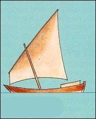 Ce gréement est lui aussi très ancien, puisqu'on le retrouve sur le Nil, dans l'Égypte antique. Lequel est-ce ?
