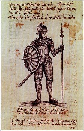 Viking célèbre, il fut le premier européen à venir au Canada, enfin il a laissé quelques traces, avec ses marins. Bien avant Christophe Colomb, il découvrit le froid polaire.