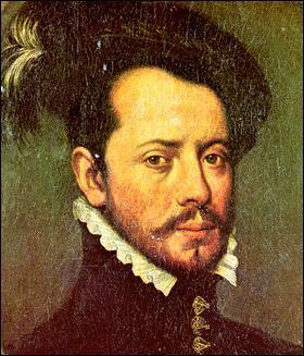 """Conquistador espagnol, il """"découvrit"""" le Mexique et les Aztèques qu'il s'empressa de massacrer avec efficacité."""