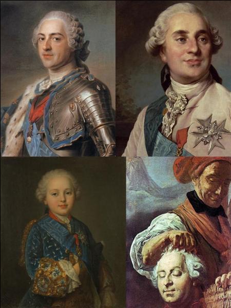 Maintenant, parlons de la succession de Louis XV. Bien sur, c'est Louis XVI qui lui a succédé. Quel était le lien de famille entre lui et qui était son père ?