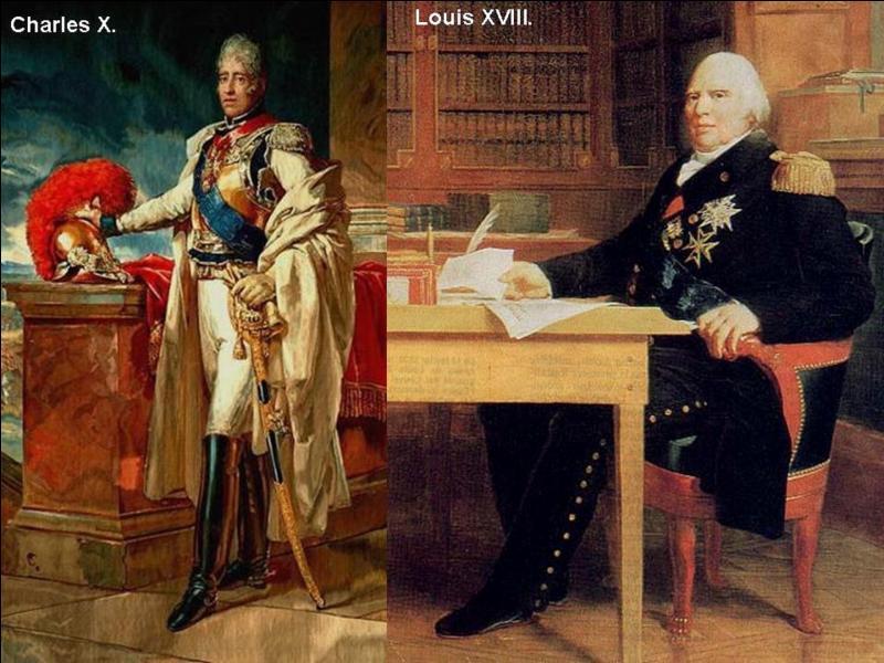 Parlons des successeurs de Louis XVII, c'est-à-dire Louis XVIII et Charles X.Qui sont-ils par rapport à Louis XVII et ces deux rois et dans quel ordre régnèrent-ils ?