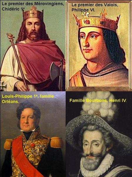 Commençons par le premier de la lignée ! Henri IV était le premier roi de France issu de la famille des Bourbons. Pour devenir roi de France, il a fallu qu'une autre famille royale s'éteigne.Quelle est cette famille ?