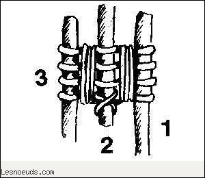 """La """"tête de bigue"""" peut servir à faire un trépied à l'aide de bâtons, mais aussi à lier deux pièces de bois. De quel type de nœud fait-il partie ?"""