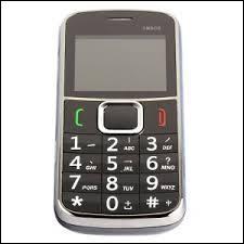 Combien de lettres se trouvent sur la touche 7 d'un clavier non tactile d'un téléphone portable ?