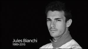 Juillet : Jules Bianchi est mort alors qu'il pratiquait le sport qui le passionnait...