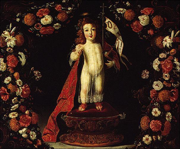 """Qui a peint """"L'enfant Jesus Sauveur du Monde"""" ?"""