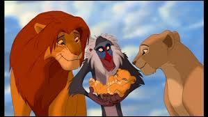 Simba a remporté la victoire, c'est désormais le roi de la Terre des Lions. Simba et Nala célèbre la naissance de leur fille qui s'appelle...