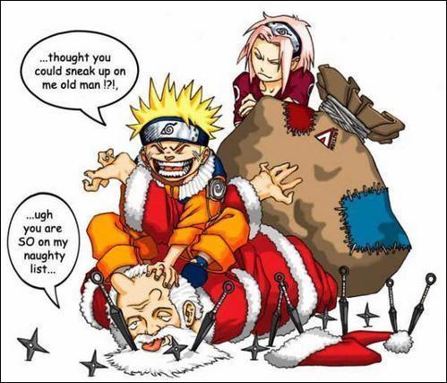 On dirait bien que ce quiz va s'arrêter là, vu qu'une certaine personne a capturé le Père Noël. De qui s'agit-il ?