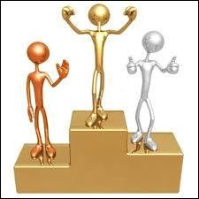 Sur un podium, qui remporte la médaille de bronze ?