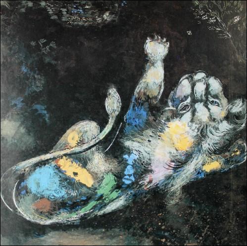 Quelle fable a inspiré Chagall ?