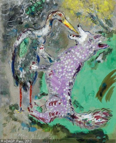 La toile de Chagall est une fable de La Fontaine