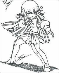 À quel endroit Shimy porte-t-elle un ou des morceaux de la cape de Danaël ?