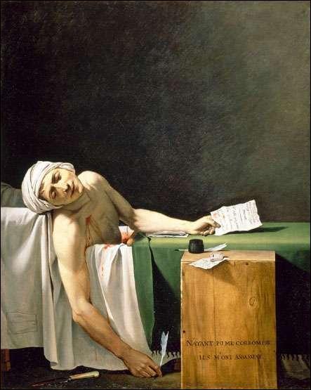 """A quel peintre français, figure de proue du classicisme, doit-on le tableau ce tableau intitulé """"Marat assassiné"""" ?"""