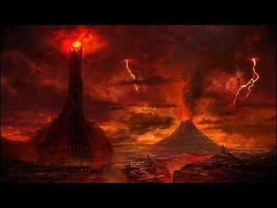 Quel lieu se trouvant en face du Gondor est le fief du Seigneur des Ténèbres ?