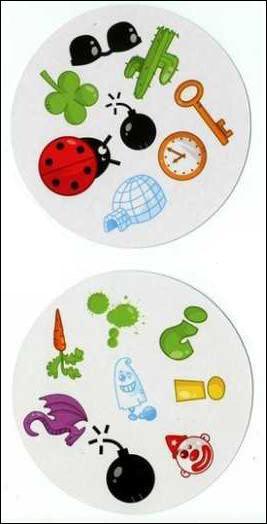 Retrouvez le symbole commun à ces deux cartes :