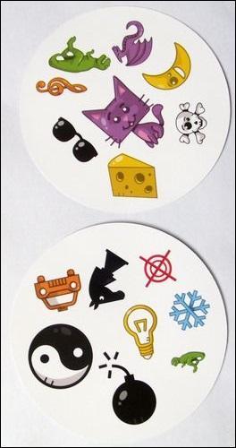 Quel dessin est commun aux deux cartes ?