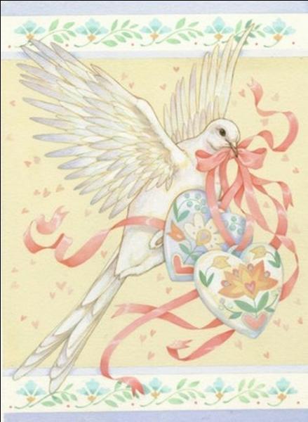 Que tient en général la colombe dans son bec, quand elle est symbole de paix ?