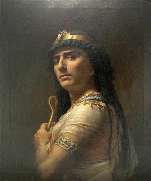 Qui est ce personnage de la Bible, que le peintre américain Frederick Arthur Bridgman a voulu représenter sur ce magnifique tableau ?