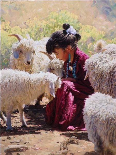 Quel est le nom de la tige de bois ou d'osier qui servait à maintenir les fibres de laine qui n'étaient pas encore filées afin qu'elles ne s'emmêlent pas ?