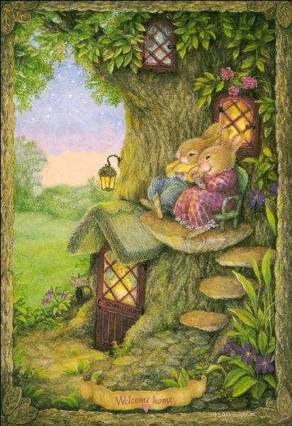 Ces lapins sont vraisemblablement assis sur un champignon qui pousse sur le tronc des chênes, quel est son nom courant ?