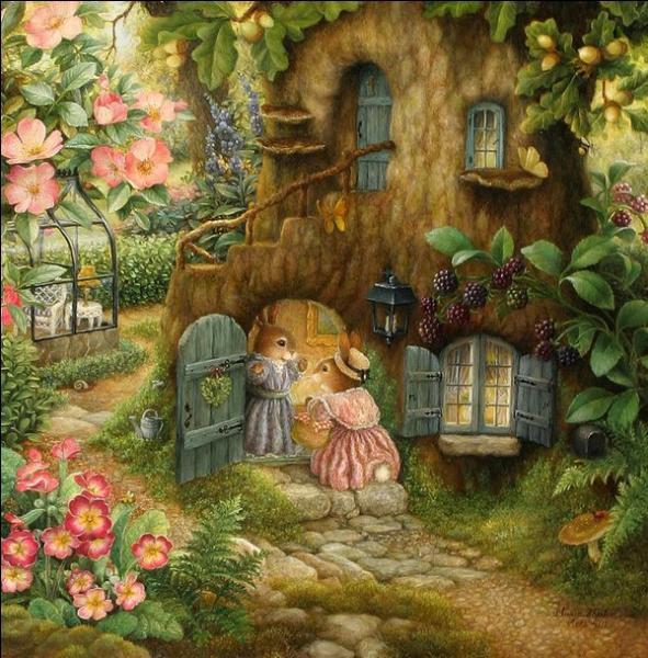 Dans quel arbre les lapins ont-il construit leur maison ?