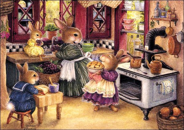 Quel est le nom de la pâtisserie faite de pâte feuilletée fourrée de crème frangipane avec un glaçage royal qui est vraisemblablement portée par la petite lapine ?