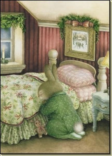 """Que peut dire ce lapin de Garenne dans sa prière"""" ?"""