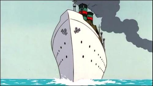 """Ce paquebot transatlantique apparaît deux fois dans """"L'Oreille cassée"""" ; quel nom porte-t-il ?"""