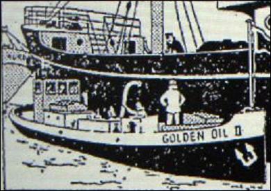 """Qui est le propriétaire du pétrolier """"Golden Oil II"""" qui ravitallle le """"Sirius"""" dans """"L'Etoile mystérieuse"""" ?"""