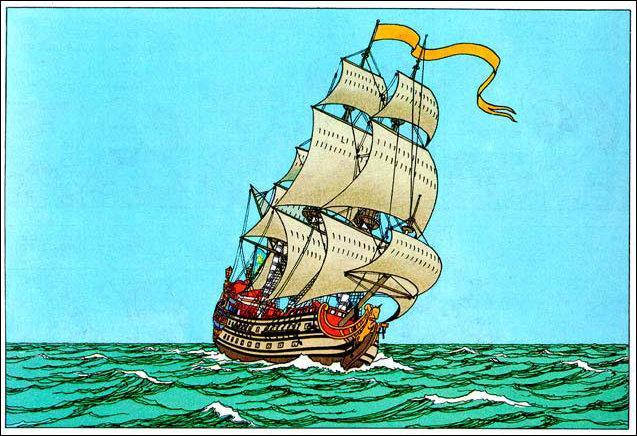 Comment mieux terminer qu'avec ce fameux trois mâts, commandé par l'ancêtre du capitaine Haddock ?