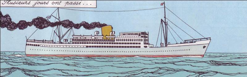 Voyageur infatigable, il préfère toujours le paquebot pour partir vers de nouvelles aventures, au Congo cette fois ; sur quel navire ?